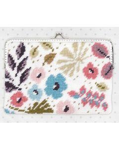 Borduurpakket portemonnee bloemen telwerk van rico design 80165.52.00