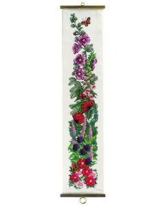 Permin borduurpakket  schellekoord bloemen om te borduren 35-8148