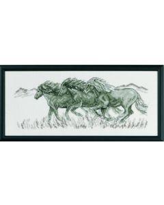 Permin borduurpakket paarden om te borduren 12-8323