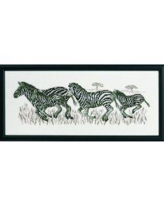 Permin borduurpakket zebra's om te borduren 12-8325