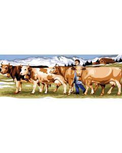Voorbedrukt stramien koeien om te borduren seg de paris 950.166