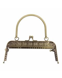 Tassen /  portemonnee sluiting en een handvat, oud goud, 18cm