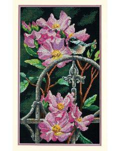 Dimensions borduurpakket vogel en bloemen 70-35268