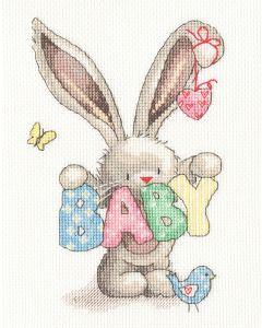 Borty Treads borduurpakket geboorte baby Bebunni xbb20