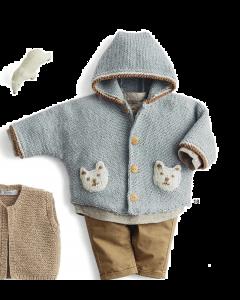 Phildar Partner 6 gratis patroon baby vestje breien