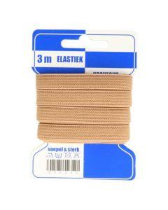 Blauwe kaart elastiek beige