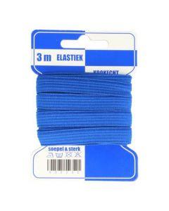 Blauwe kaart elastiek blauw