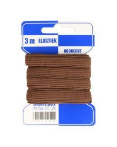 Blauwe kaart elastiek bruin