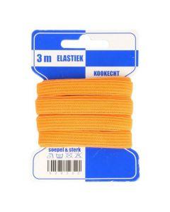 Blauwe kaart elastiek oranje