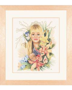 Lanarte borduurpakket bloemenmeisje van Maria Scharrenburg  23058