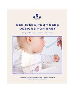 Borduurboekje met borduurpatroon ideeën voor baby van DMC