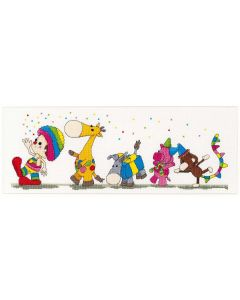 DenDennis borduurpakket Party Parade van Thea Gouverneur