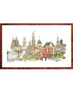 Borduurpakket Amsterdam Thea Gouverneur om te borduren