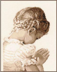 Borduurpakket biddend meisje van Vervaco pn-0158511