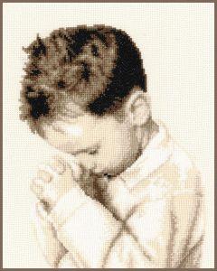 Borduurpakket biddende jongen van Vervaco pn-0162064