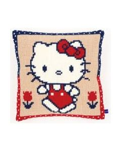 Borduurpakket borduurkussen kruissteek  Hello Kitty op wandel pn-0153864  van vervaco
