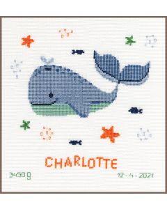 Borduurpakket geboortetegel walvissenfun van Vervaco pn-0191830