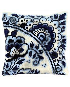Pako borduurpakket kruissteekkussen Delfts Blauw 003.137