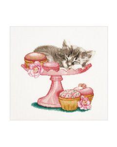 Borduurpakket Suikerzoete kitten van Thea Gouverneur 742