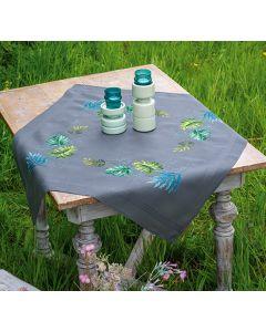 Borduurpakket tafelkleed botanische bladeren van Vervaco pn-0189719