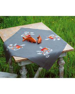 Borduurpakket tafelkleed klaprozen van Vervaco pn-01870809