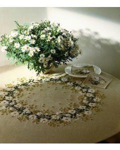 Borduurpakket tafelkleed margrieten van Eva Rosenstand 12-3625