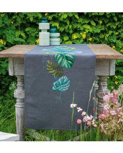 Borduurpakket tafelloper botanische bladeren van Vervaco PN-0187170