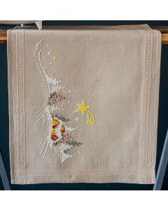 Borduurpakket tafelloper Winterlandschap met ster Vervaco pn-0180115 voorbedrukt