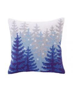 Voorbedrukt kruissteekkussen Winter forest Collection d'Art 5304