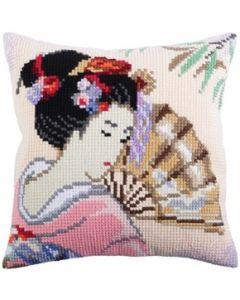 Voorbedrukt kruissteek Kussenpakket Beautiful Japanese Collection d'Art  als borduurpakket 5316