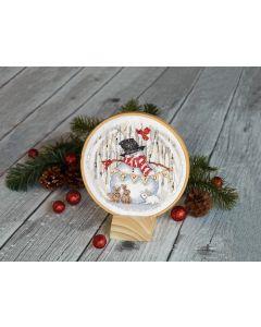 Dimensions borduurpakket Blije sneeuwpop 70-08979 borduren