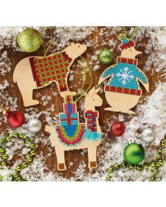 Dimensions kerst ornamenten borduren in kruissteek 72-08983
