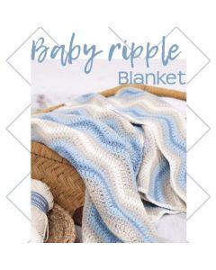 Durable haakpakket Baby Ripple Blanket blauw