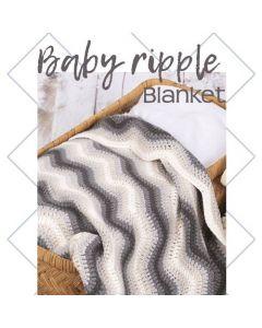 Durable haakpakket Baby Ripple Blanket grijs