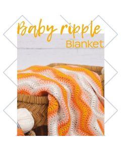 Durable haakpakket Baby Ripple Blanket oranje