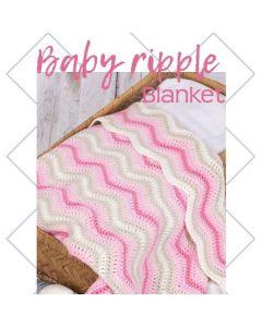 Durable haakpakket Baby Ripple Blanket roze
