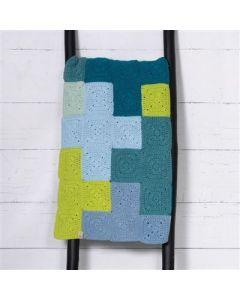 Durable haakpakket Criss-Cross Blanket Blue/Green