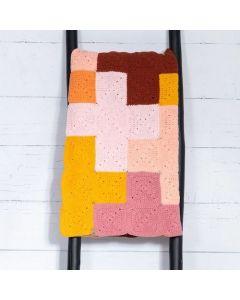 Durable haakpakket Criss-Cross Blanket Pink/Yellow