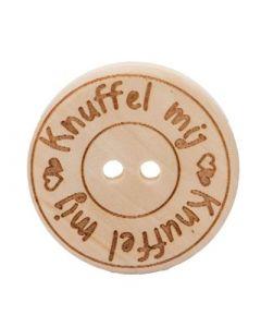 Durable houten tekst knoop Pamperkontje 20mm