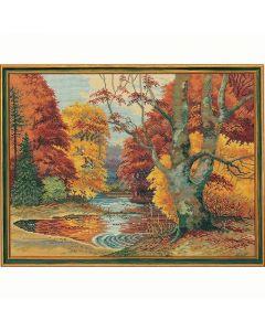 Eva Rosenstand borduurpakket herfst bos 72-496 borduren op linnen