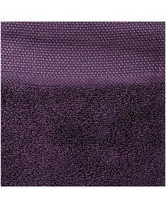 Gastendoek aubergine incl. borduurrand aida om te borduren Rico design 740235.61