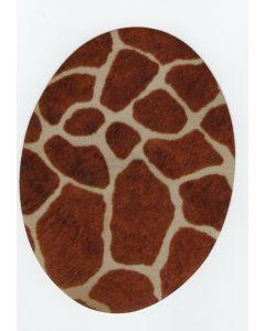 Kniestukken giraffe print opstrijkbaar