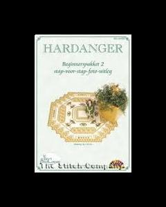 Hardanger beginnerspakket  2 beige/bruin
