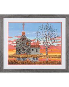 Schilder op nummer winter huis Dimensions 73-91614