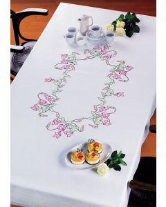 Voorbedrukt tafelkleed bloemen van Permin 58-7601R