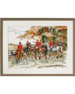 Borduurpakket  jacht met paarden en honden van Eva Rosenstand 72.452