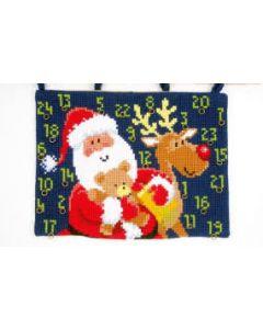 Voorbedrukt kruissteek wandtapijt adventkalender  kerstpakjes van vervaco