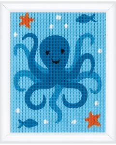 Kinder borduurpakket inktvis inhalve kruissteek van Vervaco pn-0147052