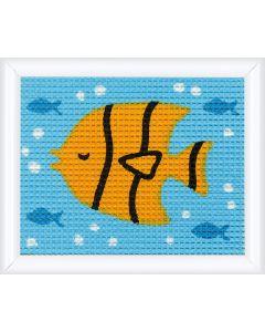 Kinder borduurpakket vis inhalve kruissteek van Vervaco pn-0147051