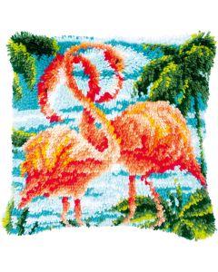 Knoopkussen pakket Flamingo's van Vervaco pn-0186006
